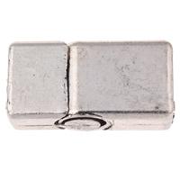 Zinklegierung Lederband Verschluss, Rechteck, antik silberfarben plattiert, frei von Nickel, Blei & Kadmium, 13x25.50x8mm, Bohrung:ca. 10x5.5mm, 20PCs/Tasche, verkauft von Tasche