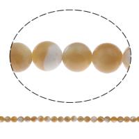 Turbanschnecken Perle, rund, natürlich, verschiedene Größen vorhanden, gelb, Bohrung:ca. 1mm, Länge:ca. 15.7 ZollInch, verkauft von Tasche