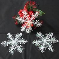 Kunststoff Weihnachten Schneeflocke, Weihnachtsschmuck & verschiedene Größen vorhanden, weiß, verkauft von Menge