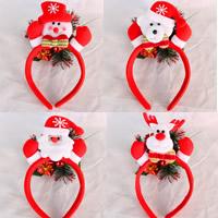 Baumwollsamt Haarband, mit Kunststoff, Weihnachtsschmuck & verschiedene Muster für Wahl, 120x230mm, 10PCs/Tasche, verkauft von Tasche
