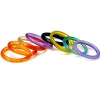 Achat Fingerring, natürliche, gemischte Farben, Größe:6-10, verkauft von PC