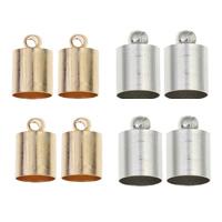 Messing Endkappe, plattiert, keine, frei von Nickel, Blei & Kadmium, 7x11mm, Bohrung:ca. 6.5mm, 2mm, verkauft von Tasche