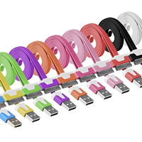 Kunststoff Datenkabel, Platinfarbe platiniert, unterschiedliche Länge der Wahl & verschiedene Stile für Wahl, gemischte Farben, verkauft von Menge