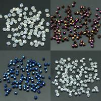 Doppelkegel Kristallperlen, Kristall, AB Farben plattiert, facettierte, mehrere Farben vorhanden, 4mm, Bohrung:ca. 1mm, ca. 100PCs/Tasche, verkauft von Tasche