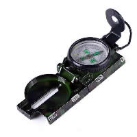 Aluminium Kompass, mit Acryl, Spritzlackierung, 6.6x14.5x1.1cm, 5PCs/Menge, verkauft von Menge