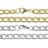 Halskette, Edelstahl, plattiert, Kandare Kette, keine, 13x9x2.50mm, Länge:ca. 21 ZollInch, verkauft von Menge