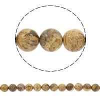 Bild Jaspis Perlen, rund, synthetisch, verschiedene Größen vorhanden, Bohrung:ca. 1mm, verkauft per ca. 15 ZollInch Strang