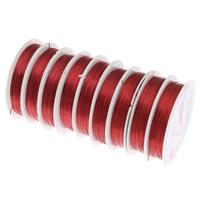 Kupferdraht, Kupfer, Elektrophorese, rot, frei von Nickel, Blei & Kadmium, 0.5mm, Länge:ca. 90 m, 10PCs/Tasche, verkauft von Tasche