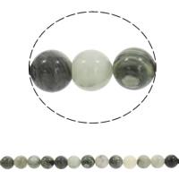 grüne Haar Stein Perle, rund, synthetisch, verschiedene Größen vorhanden, Bohrung:ca. 1mm, verkauft per ca. 15.5 ZollInch Strang