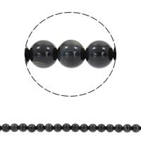 Tigerauge Perlen, rund, synthetisch, verschiedene Größen vorhanden, blau, Bohrung:ca. 1mm, verkauft per ca. 15.5 ZollInch Strang