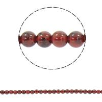 Rhodonit Perlen, rund, synthetisch, verschiedene Größen vorhanden, Bohrung:ca. 1mm, verkauft per ca. 15.5 ZollInch Strang