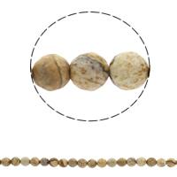 Bild Jaspis Perlen, rund, synthetisch, verschiedene Größen vorhanden & facettierte, Bohrung:ca. 1mm, verkauft per ca. 14.5 ZollInch Strang