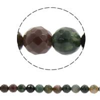 Natürliche Indian Achat Perlen, Indischer Achat, rund, synthetisch, verschiedene Größen vorhanden & facettierte, Bohrung:ca. 1mm, verkauft per ca. 14.5 ZollInch Strang