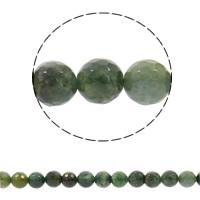 Natürliche Moos Achat Perlen, rund, synthetisch, verschiedene Größen vorhanden & facettierte, Bohrung:ca. 1mm, verkauft per ca. 15 ZollInch Strang