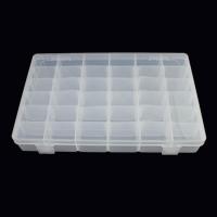 Schmuck Nagelkasten, Kunststoff, Rechteck, 36-Zellen & transparent, klar, 273x175x43mm, verkauft von PC