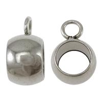 Edelstahl Kaution Perlen, Kreisring, originale Farbe, 4.5x10x7mm, Bohrung:ca. 2mm,5mm, 100PCs/Menge, verkauft von Menge