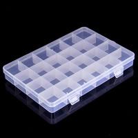 Schmuck Nagelkasten, Kunststoff, Rechteck, transparent & 24 Zellen, klar, 192x130x22mm, verkauft von PC