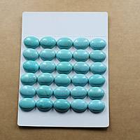 Synthetische Türkis Cabochon, flachoval, verschiedene Größen vorhanden & flache Rückseite, hellblau, verkauft von Menge