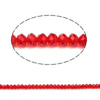 Rondell Kristallperlen, Kristall, facettierte & AA grade crystal, Siam, 5x6mm, Bohrung:ca. 1mm, Länge:ca. 17 ZollInch, 10SträngeStrang/Tasche, ca. 80PCs/Strang, verkauft von Tasche