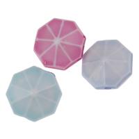 Chemische Wash Acryl Perlen, Sechseck, chemische-Waschanlagen, gemischte Farben, 16x9mm, Bohrung:ca. 2mm, 2Taschen/Menge, ca. 140PCs/Tasche, verkauft von Menge