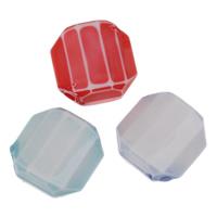 Chemische Wash Acryl Perlen, Quadrat, chemische-Waschanlagen & facettierte, gemischte Farben, 15x7mm, Bohrung:ca. 2mm, 2Taschen/Menge, ca. 394PCs/Tasche, verkauft von Menge