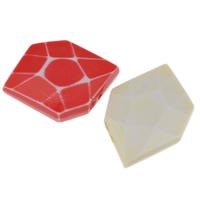 Chemische Wash Acryl Perlen, chemische-Waschanlagen & facettierte, gemischte Farben, 23x20x9mm, Bohrung:ca. 1mm, 2Taschen/Menge, ca. 147PCs/Tasche, verkauft von Menge
