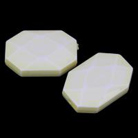 Chemische Wash Acryl Perlen, Rechteck, chemische-Waschanlagen & facettierte, gelb, 23x16x6mm, Bohrung:ca. 1mm, 2Taschen/Menge, ca. 246PCs/Tasche, verkauft von Menge