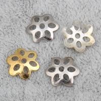 Eisen Perlenkappen, Blume, plattiert, keine, frei von Nickel, Blei & Kadmium, 8x2mm, Bohrung:ca. 1mm, 10000PCs/Tasche, verkauft von Tasche
