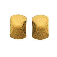 Gets® Schmuck Ohrring, Messing, Rechteck, 18 K vergoldet, dessiniert, frei von Nickel, Blei & Kadmium, 17x25mm, verkauft von Paar