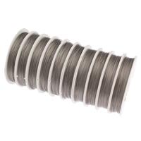 Stahldraht, mit Kunststoffspule, verschiedene Größen vorhanden, 10Spulen/Tasche, ca. 50m/Spule, verkauft von Tasche