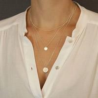 Mode-Multi-Layer-Halskette, Zinklegierung, mit Eisenkette, goldfarben plattiert, 3-Strang, frei von Nickel, Blei & Kadmium, 40cm, Länge:ca. 15.5 ZollInch, 3SträngeStrang/Tasche, verkauft von Tasche