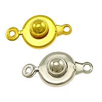 Messing Druckverschluss, plattiert, Einzelstrang, keine, frei von Nickel, Blei & Kadmium, 9x18x5mm, Bohrung:ca. 1mm, 500PCs/Menge, verkauft von Menge