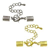 Messing Klaue Karabinerverschluss, plattiert, mit Kabel Spitze, keine, frei von Nickel, Blei & Kadmium, 39mm,12x6.5x4mm, Bohrung:ca. 5.5x8mm, 200SträngeStrang/Menge, verkauft von Menge