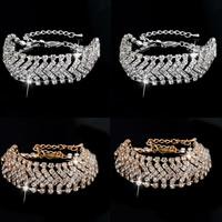 Strass Armband, Zinklegierung, mit Verlängerungskettchen von 5cm, plattiert, mit Strass, keine, frei von Nickel, Blei & Kadmium, 160mm, verkauft per ca. 6.5 ZollInch Strang