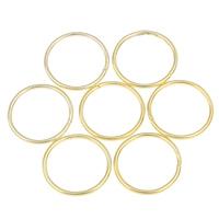 Zinklegierung geöffneter Biegering, goldfarben plattiert, verschiedene Größen vorhanden, frei von Nickel, Blei & Kadmium, verkauft von kg
