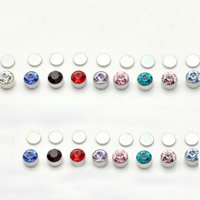 Edelstahl Magnetische Ohrstecker, mit Magnetische Hämatit, verschiedene Größen vorhanden & mit Strass, keine, 10Taschen/Menge, 24PCs/Tasche, verkauft von Menge
