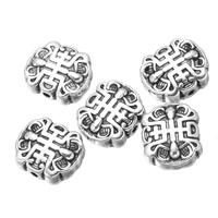 Buddhistische Perlen, Zinklegierung, antik silberfarben plattiert, frei von Nickel, Blei & Kadmium, 14x12mm, Bohrung:ca. 1.3mm, 300PCs/Menge, verkauft von Menge