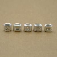 99% Perle, plattiert, keine, frei von Nickel, Blei & Kadmium, 6x8mm, Bohrung:ca. 2x3mm, 2SetsSatz/Menge, 5PCs/setzen, verkauft von Menge