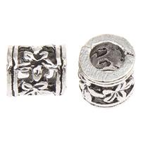Zinklegierung Rohr Perlen, antik silberfarben plattiert, frei von Blei & Kadmium, 6mm, Bohrung:ca. 3mm, ca. 165PCs/Tasche, verkauft von Tasche