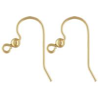 gold-gefüllt Ohrhaken, 14K gefüllt, frei von Nickel, Blei & Kadmium, 17x19mm, 0.61mm, verkauft von Paar