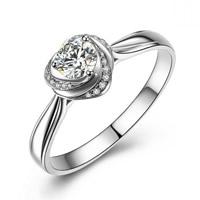 Zirkonia Micro Pave Sterling Silber Ringe, 925 Sterling Silber, Blume, platiniert, verschiedene Größen vorhanden & Micro pave Zirkonia & facettierte, 9x9mm, 3PCs/Tasche, verkauft von Tasche