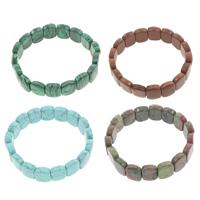 Edelstein Armbänder, oval, natürlich, verschiedenen Materialien für die Wahl, 12x15x5.50mm, Länge:ca. 7 ZollInch, 10SträngeStrang/Tasche, verkauft von Tasche