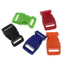 Kunststoff Folie Release Schnalle, gemischte Farben, 39.50x22x8.50mm, Bohrung:ca. 16x4mm, 15x3mm, 1000PCs/Menge, verkauft von Menge