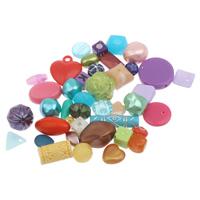 Acryl gemischt, 6mm-19x5mm, Bohrung:ca. 1mm, 2Taschen/Menge, ca. 480PCs/Tasche, verkauft von Menge