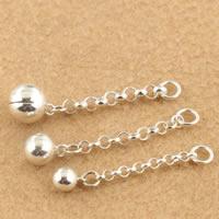 925 Sterling Silber Verlängerungskettchen, rund, verschiedene Größen vorhanden, verkauft von Menge