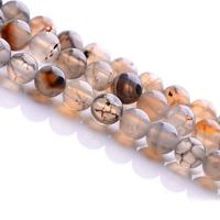 Natürliche Drachen Venen Achat Perlen, Drachenvenen Achat, rund, verschiedene Größen vorhanden, Grade AAAAAA, Bohrung:ca. 1mm, verkauft per ca. 15.5 ZollInch Strang