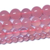 Rosa Achat Perle, rund, natürlich, verschiedene Größen vorhanden, Grade AAAAAA, Bohrung:ca. 1mm, verkauft per ca. 14.5 ZollInch Strang