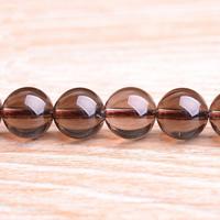 Natürliche Rauchquarz Perlen, rund, verschiedene Größen vorhanden, Grade AAAAA, Bohrung:ca. 1mm, verkauft per ca. 15.5 ZollInch Strang