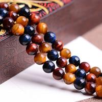 Tigerauge Perlen, rund, natürlich, verschiedene Größen vorhanden, Grade AAAAAA, Bohrung:ca. 1mm, verkauft per ca. 15.5 ZollInch Strang