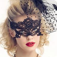 Gothic Augenmaske, Spitze, Gotik, schwarz, 950x310mm, 10PCs/Menge, verkauft von Menge